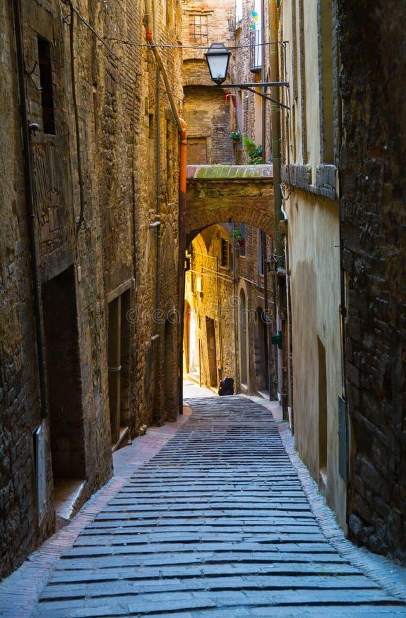 Narrow street in Italy royalty free stock photo