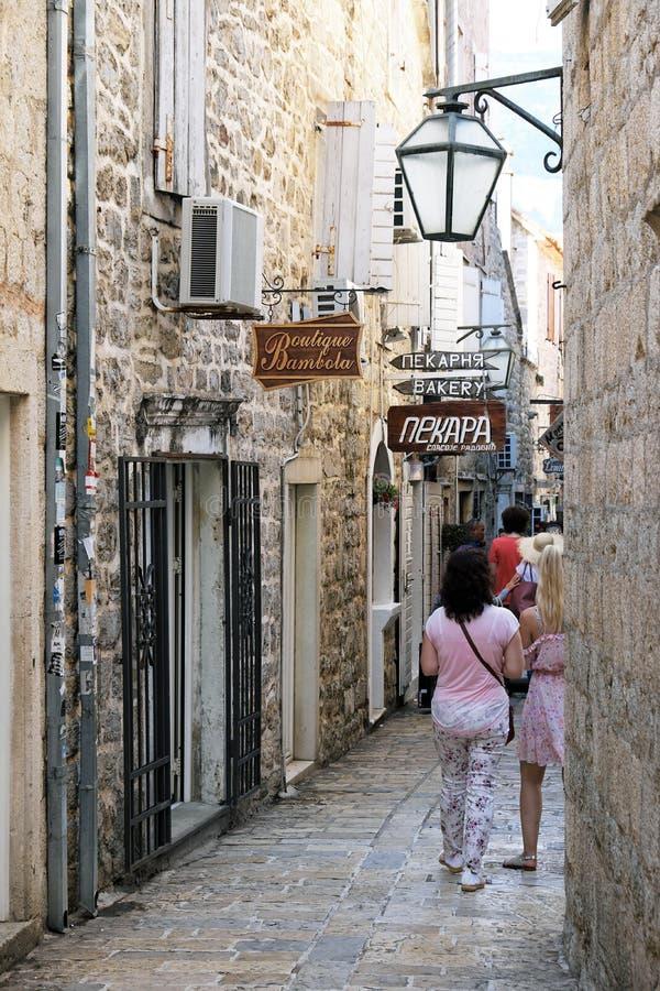 Historical Stone Buildings, Dubva, Montenegro stock photos