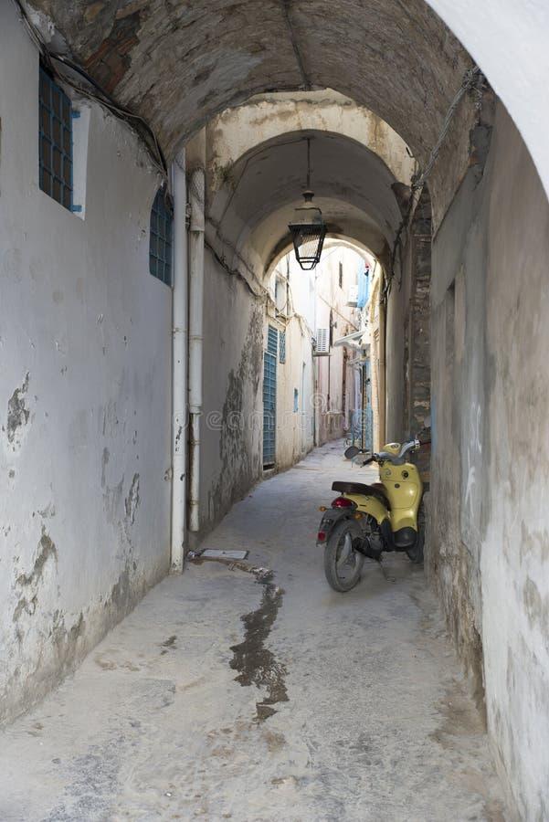 Narrow street in the medina, Tunis stock photos