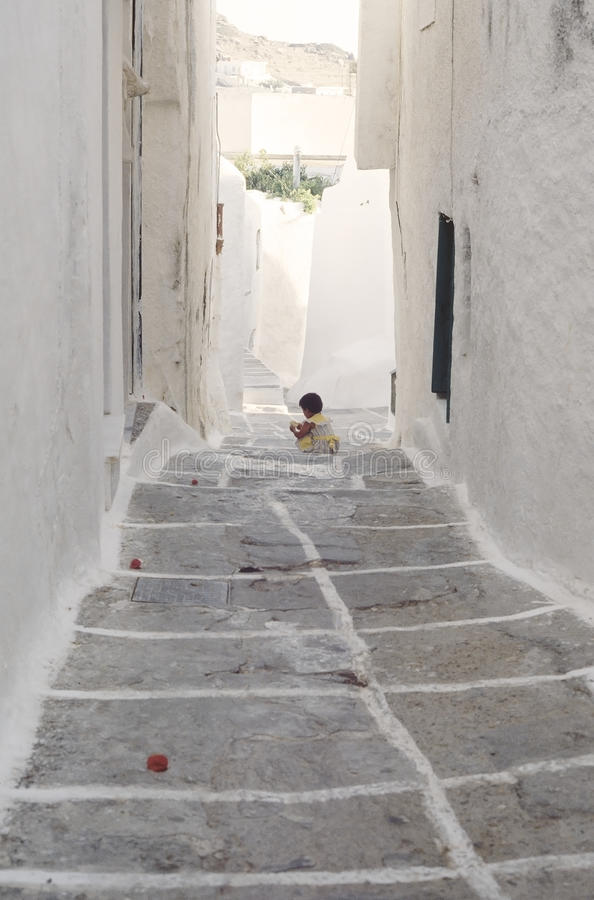 Download Narrow Street In Parikia, Cyclades Editorial Photography - Image: 25657572