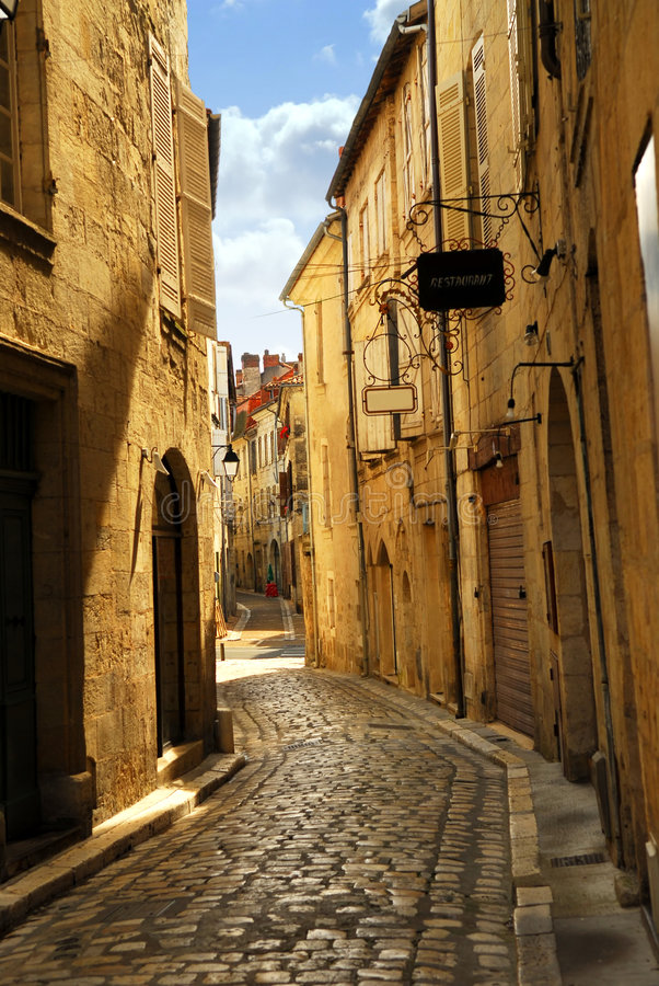 Download Narrow street in Perigueux stock photo. Image of europe - 3983544