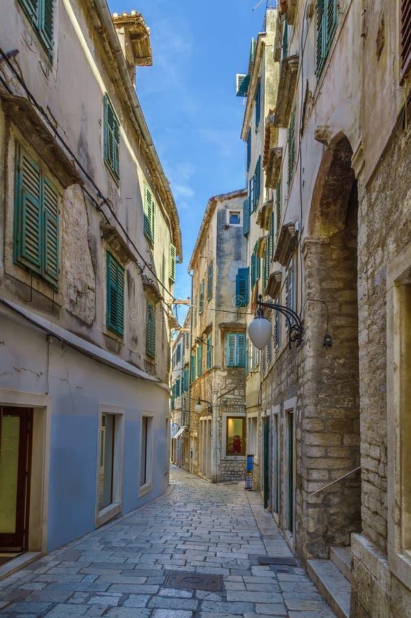 Street in Sibenik, Croatia stock image