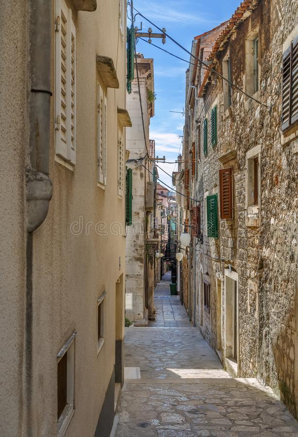 Street in Sibenik, Croatia royalty free stock photos