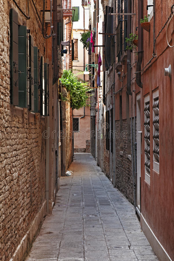 Download Narrow Street in Venice stock image. Image of city, venetian - 28473515