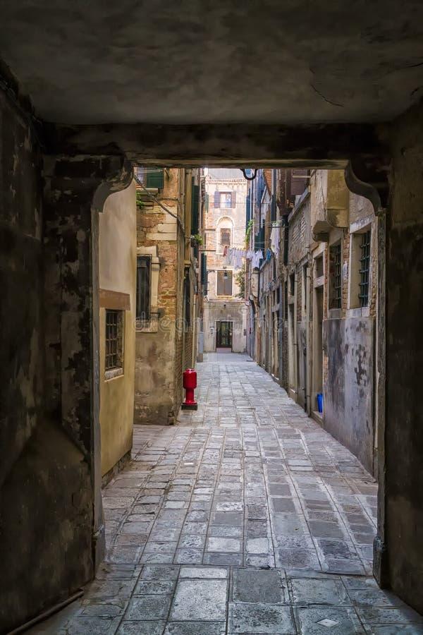Narrow Street in Venice royalty free stock photography