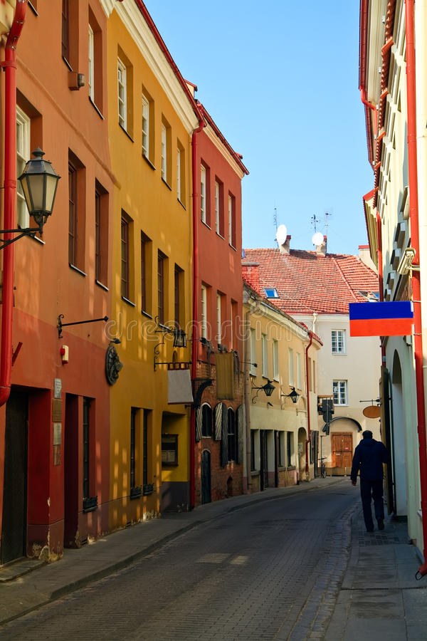 Narrow Street In Vilnius Stock Photography