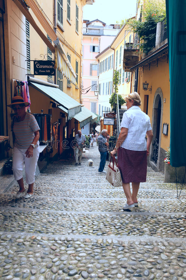 Download Narrow streets of Bellagio editorial photo. Image of design - 15283196