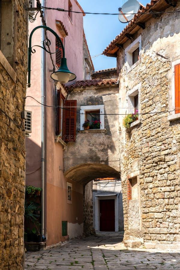 A narrow streets of Buje,  Croatia. A narrow streets of Buje, Istria, Croatia stock photography