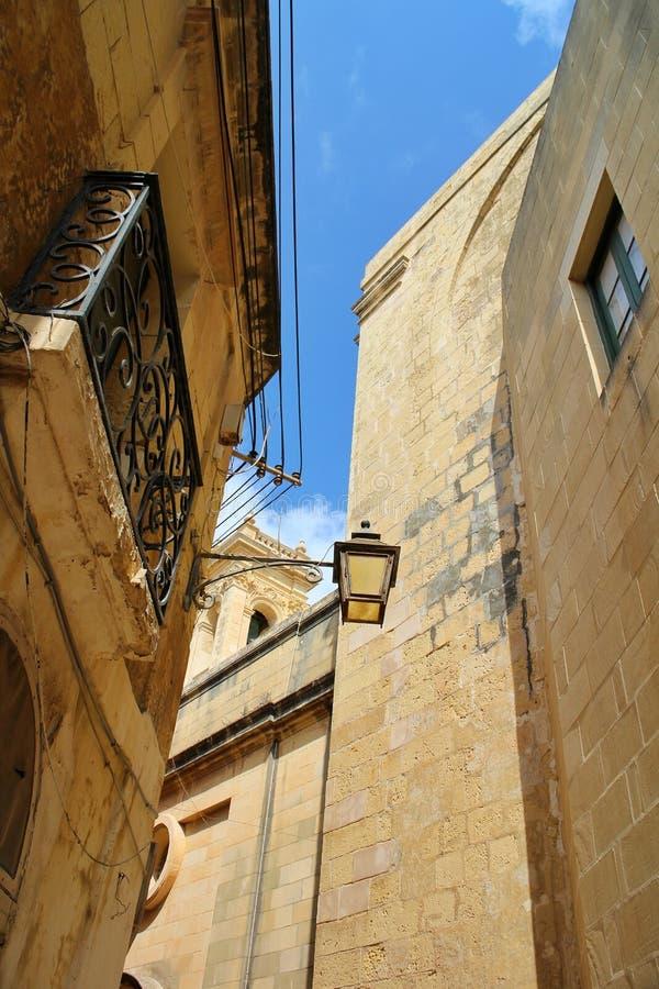 Narrow streets of Valletta, Malta stock photos
