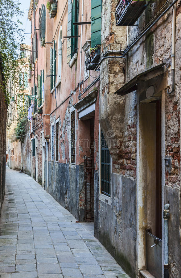 Narrow Venetian Street stock photos