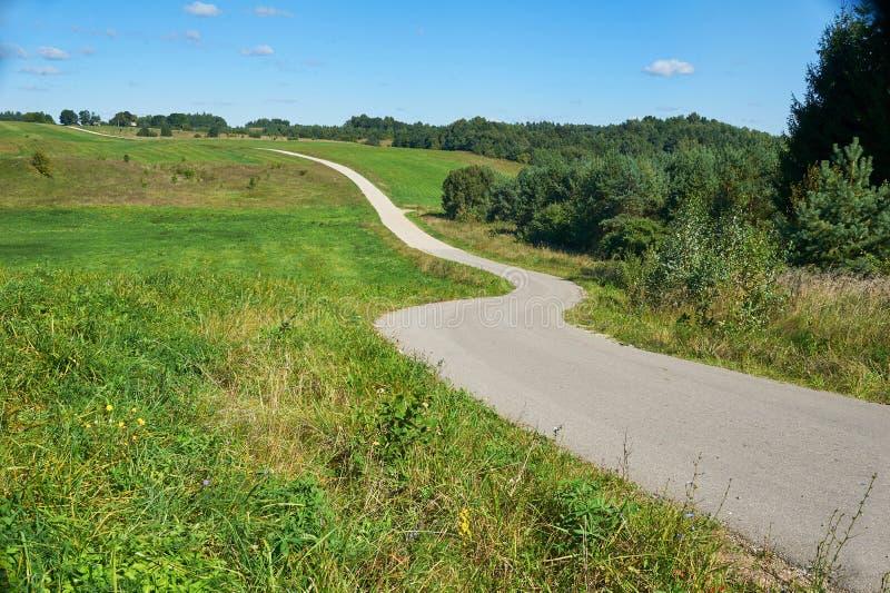 Narrow winding road stock image