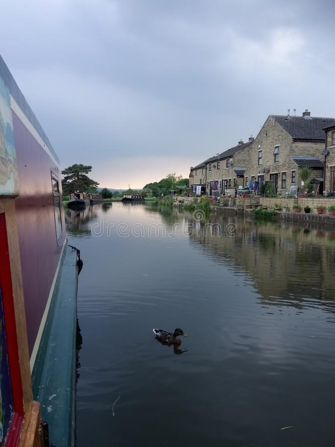 Narrowboat stockfotografie