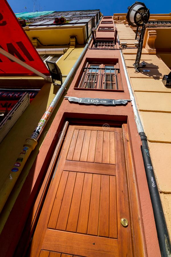 The narrowest building in Europe, Valencia royalty free stock images