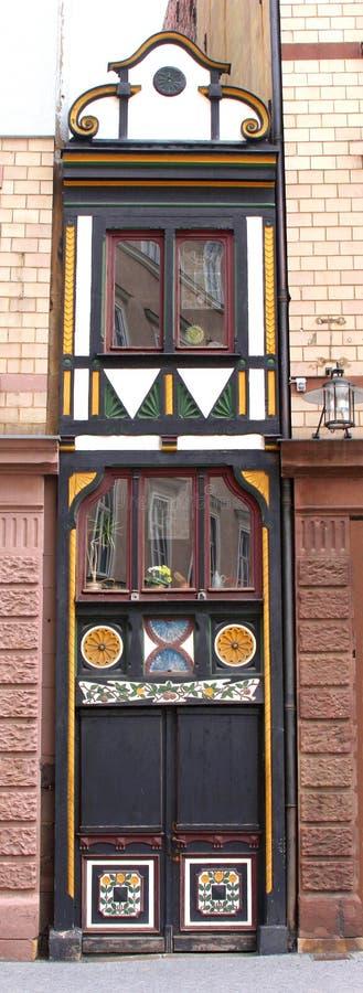 Smallest fachwerk house of Germany,Eisenach, Germany royalty free stock photo