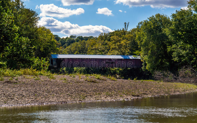 Narrows covered bridge in indiana stock photos