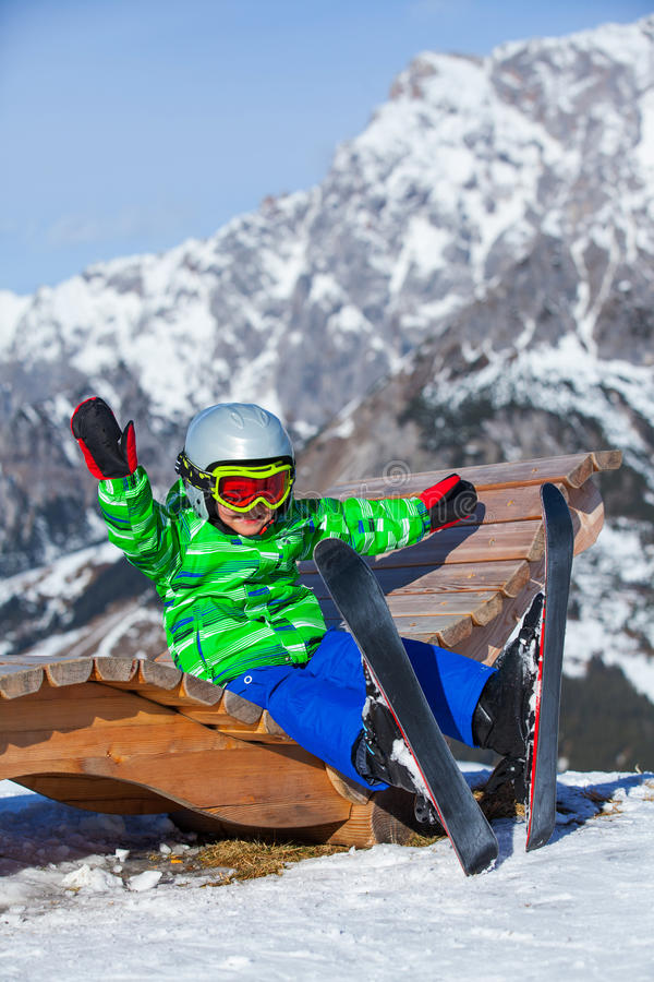 Narta, narciarka, zima zdjęcie royalty free