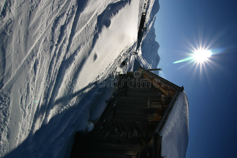 narty szwajcarskie alpy fotografia stock