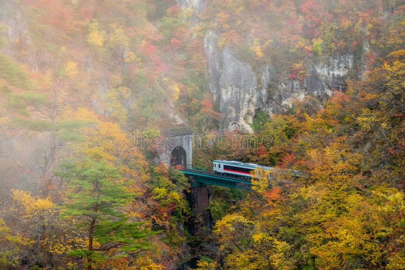 Naruko gorge in autumn season. royalty free stock images