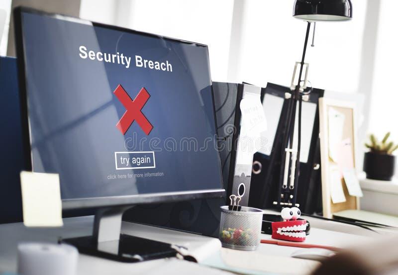 Naruszenie Bezpieczeństwa hackera Cyber przestępstwa prywatności polisy pojęcie obrazy royalty free