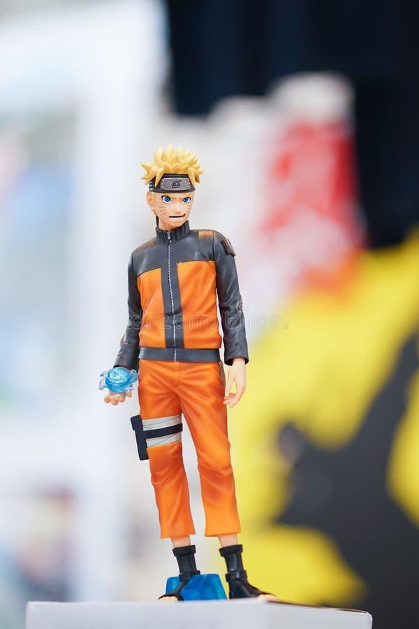 Naruto, een hoofdkarakter van een Japanse mangareeks Naruto, royalty-vrije stock afbeelding