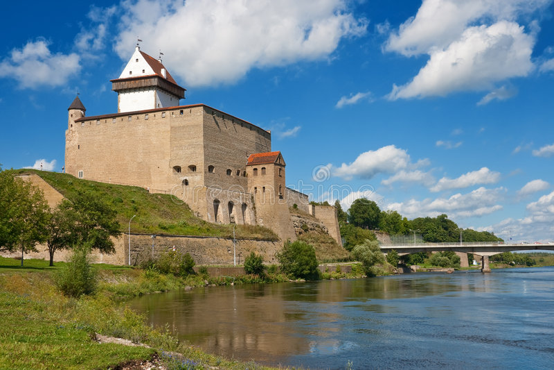 Narva castle. Herman castle in Narva. Estonia stock photos