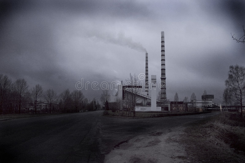 Download Narva Electric Stations stock image. Image of clouds, pollution - 187005