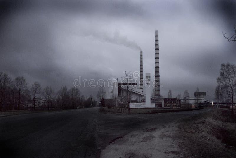 Narva elektrische Stationen lizenzfreies stockfoto