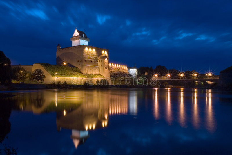 Narva Herman Castle Stock Photos