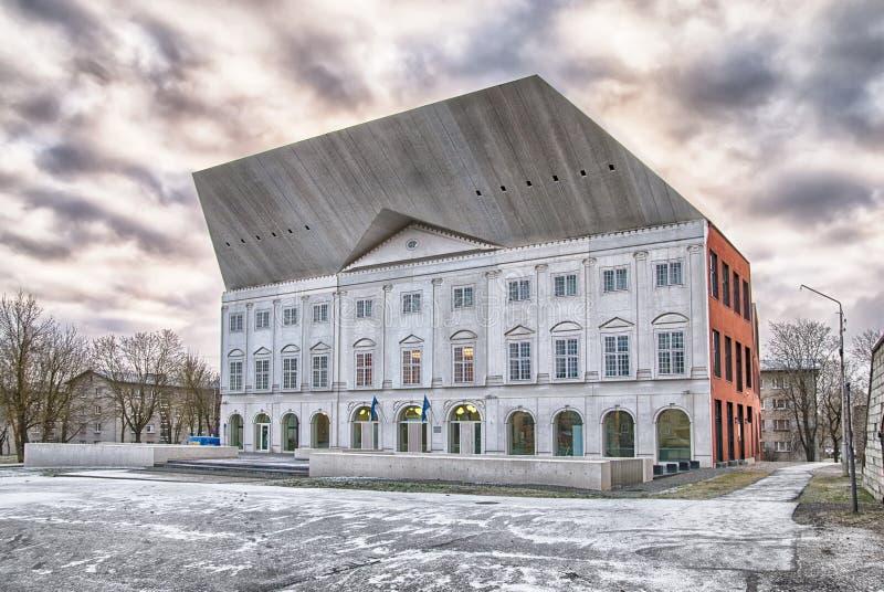 Narva l'Estonie Université de Narva d'université de Tartu images libres de droits