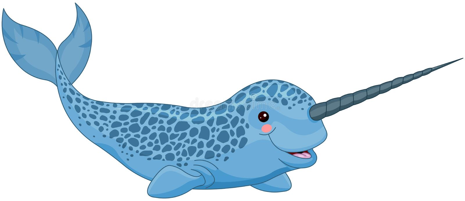 Narwhal. Illustration of a cute narwhal stock illustration