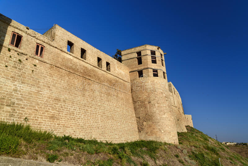 Naryn-Kala fortress gate. Khan`s chancery in Derbent stock photo