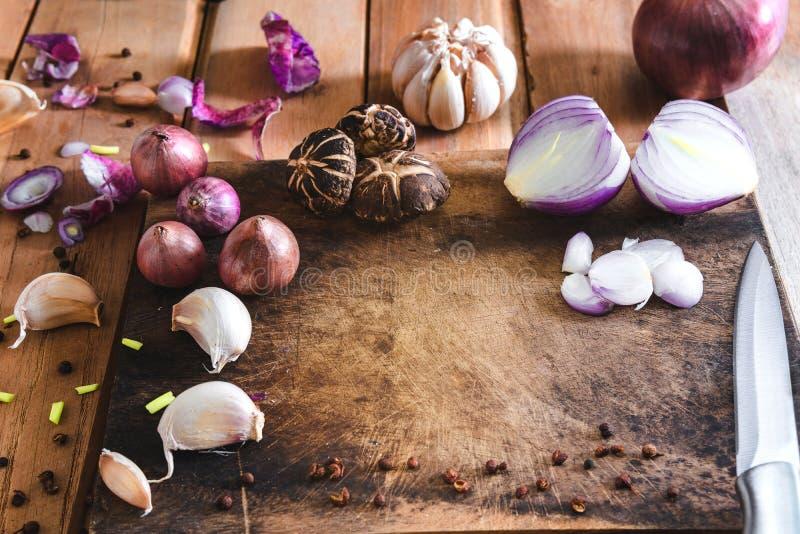 Narządzań warzywa dla gotować w Tajlandia zdjęcie stock