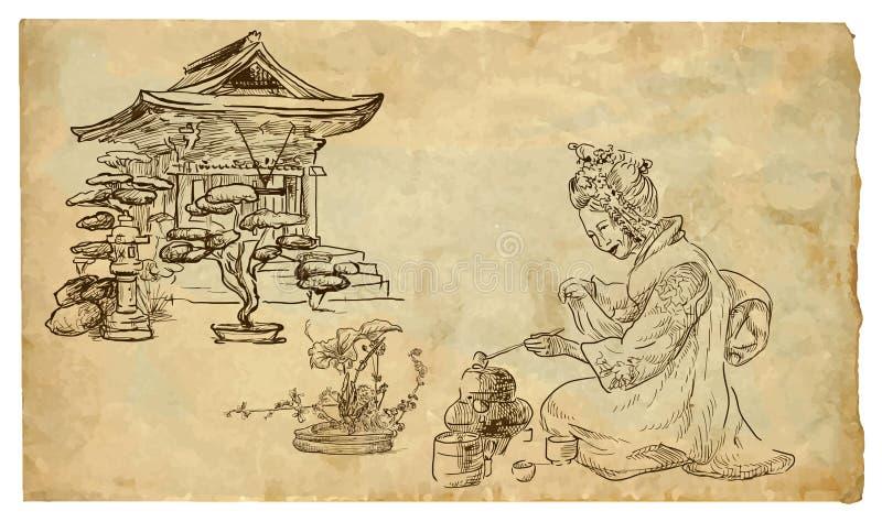 Narządzanie herbata royalty ilustracja