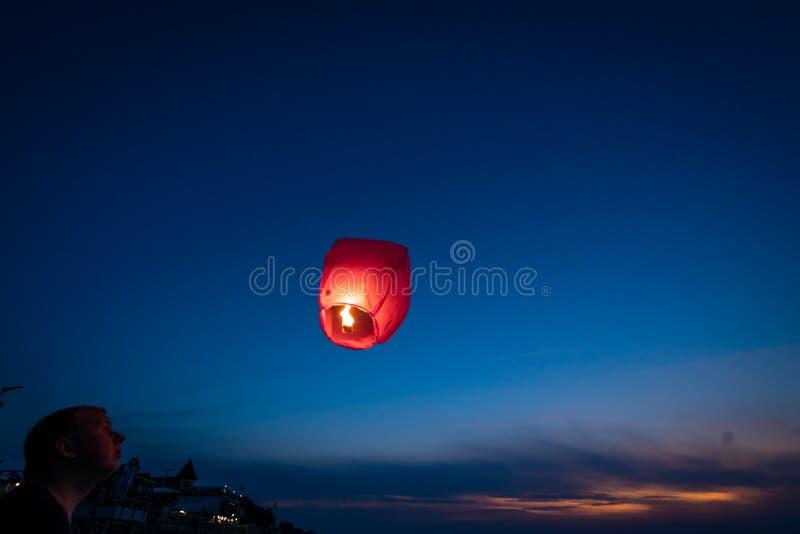 Narządzanie lampion latać zdjęcia stock