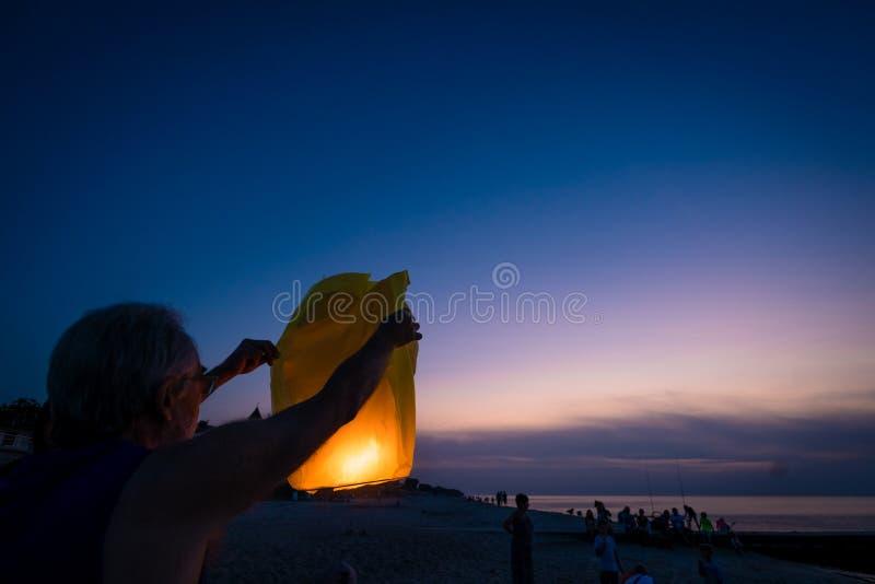 Narządzanie lampion latać zdjęcia royalty free