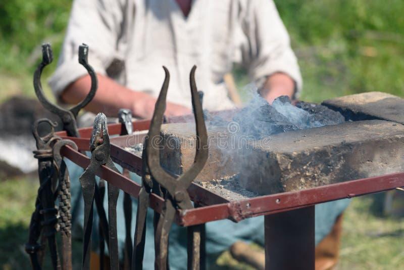 Narzędzia blacksmith zdjęcie royalty free
