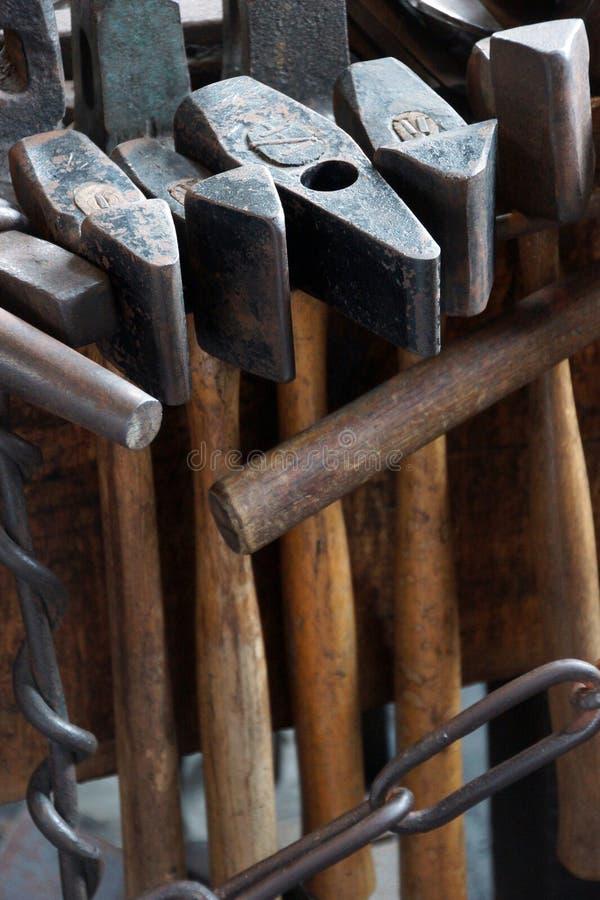 Narzędzia blacksmith zdjęcie stock