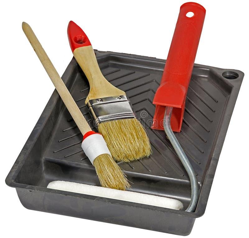 Narzędzia dla malować domy obraz stock