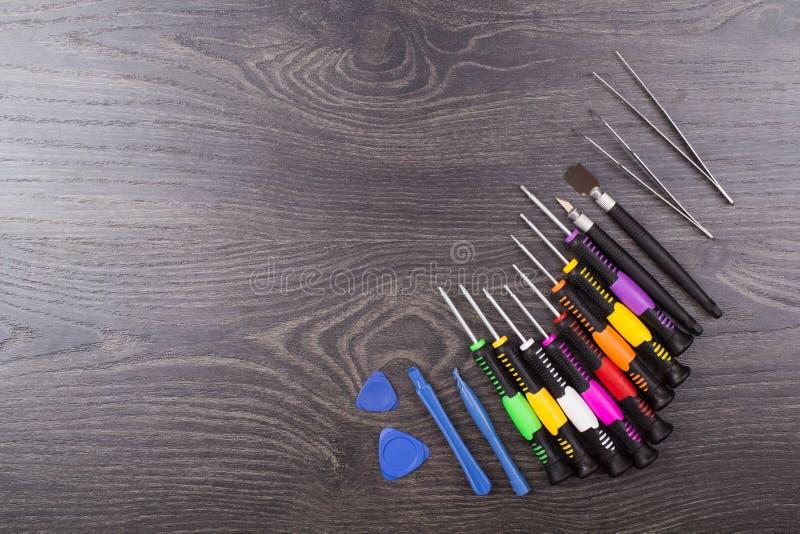Narzędzia dla naprawy elektronika obrazy stock