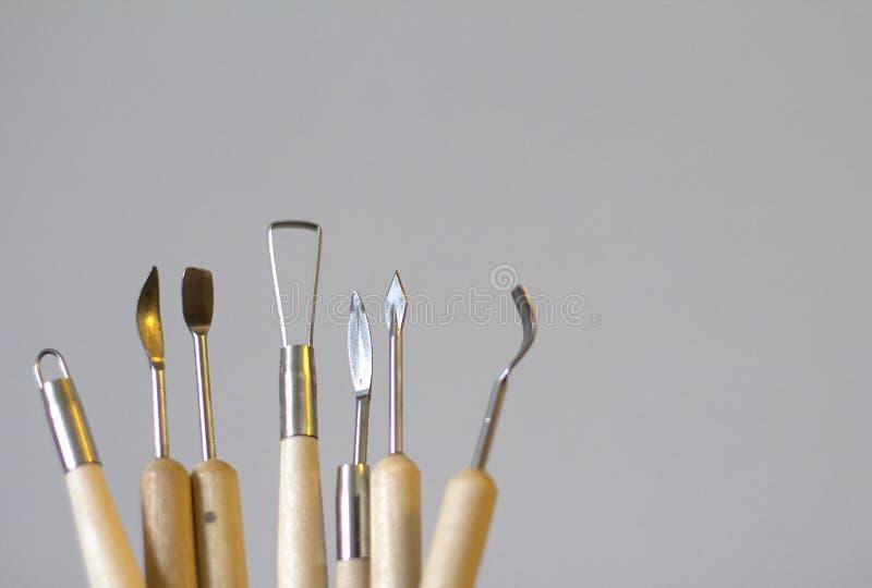 Narzędzia dla pleśnieć od polimer gliny fotografia royalty free
