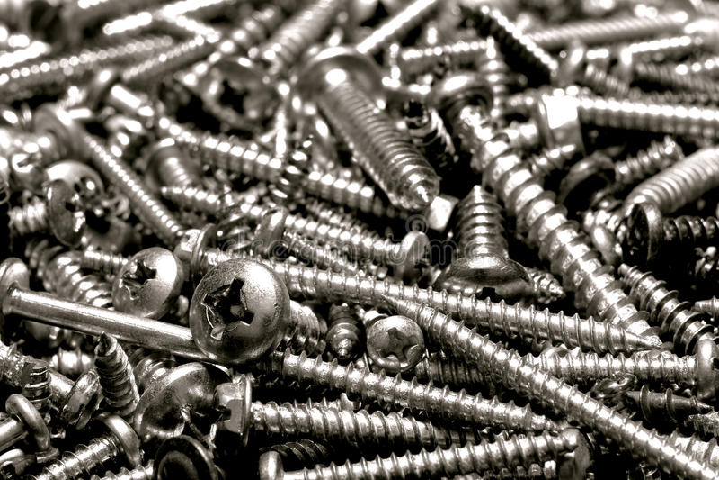 narzędzia głowy metalu Philips palowy śrub prześcieradło fotografia royalty free