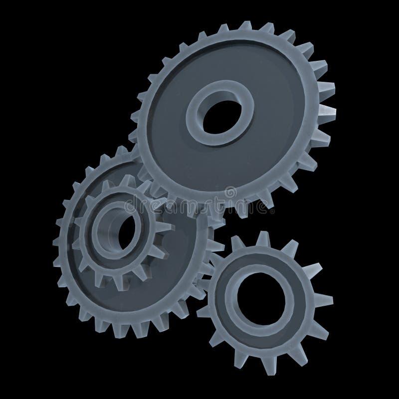 Narzędzia Koncepcja maszyny do technologii mechanicznej royalty ilustracja