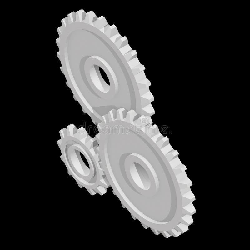 Narzędzia Koncepcja maszyny do technologii mechanicznej ilustracja wektor