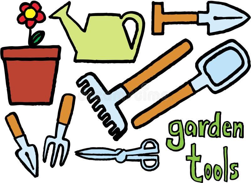 narzędzia ogrodnicze ilustracji