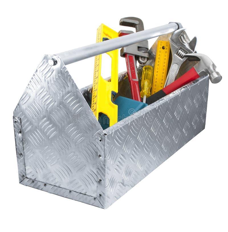 Narzędzia Wytłaczają wzory Toolbox pudełko zdjęcia royalty free