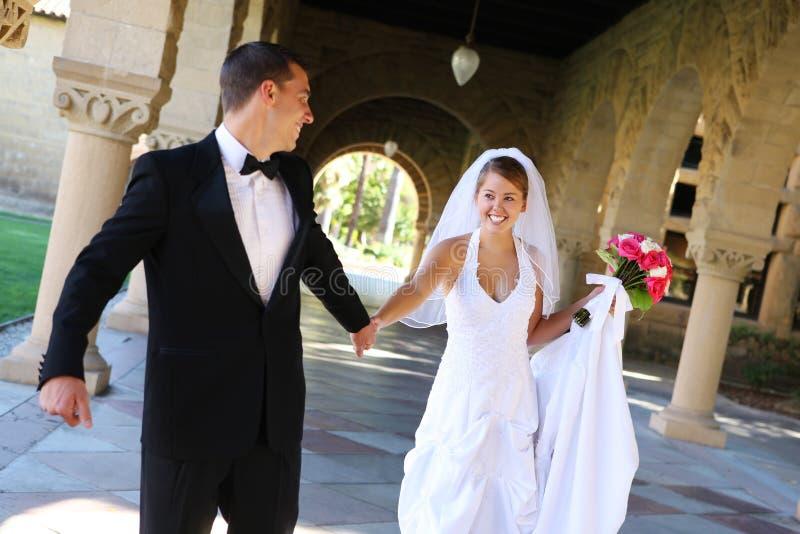 narzeczona młodego ślub obraz royalty free