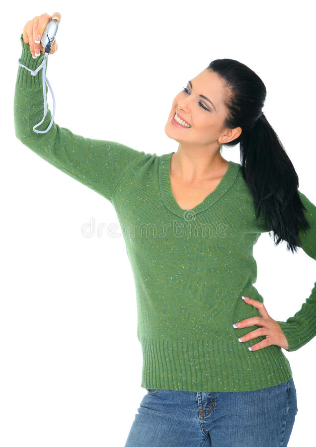 Narzisstische Frau lizenzfreie stockfotos