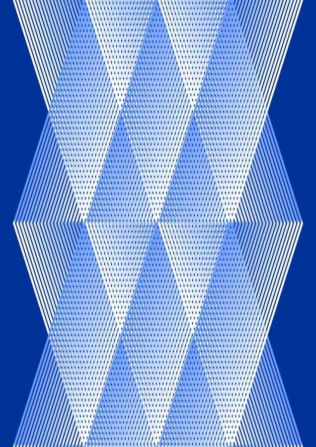 Narzuty tło w kubisty stylu, białego i błękitnego projekcie z siatki strukturą, ilustracji