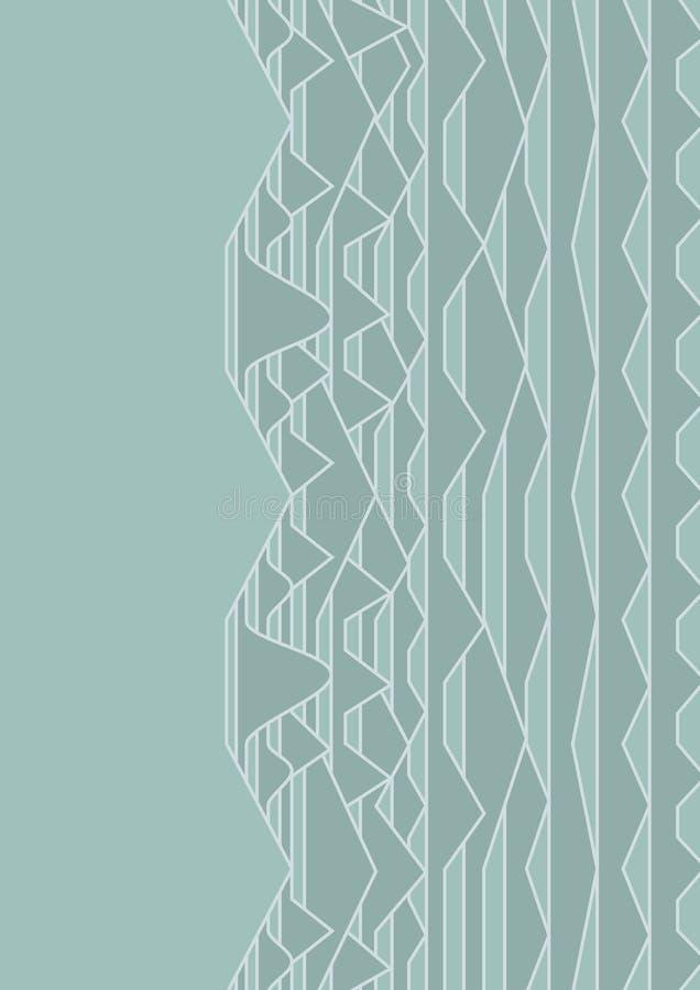 Narzuty tło w kubisty stylu na se ilustracja wektor