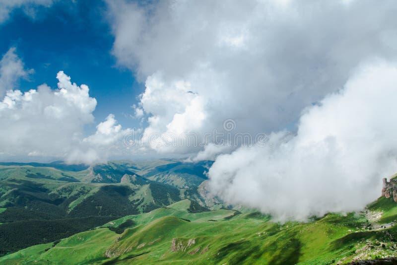 Nas nuvens imagem de stock